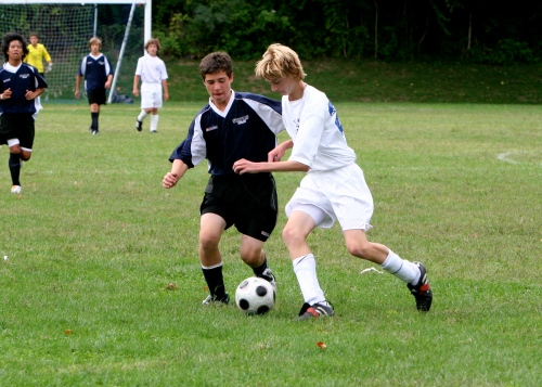 Kyle Hoberman, playing last fall with the freshman team.