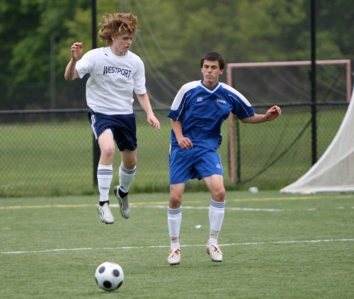 Ryan Foss-Skiftesvik gets air against Southington. (Photos by Carl McNair)