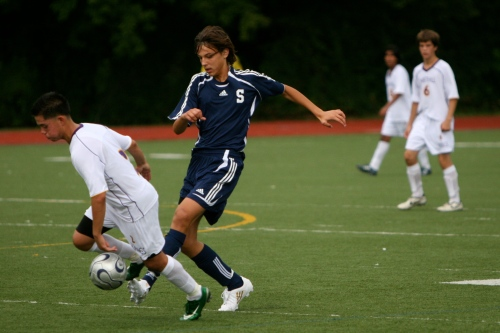 Nick Kljusev (blue) in his Staples soccer days.