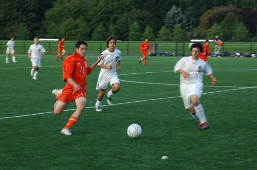 Nick Cion (right) in action last fall.