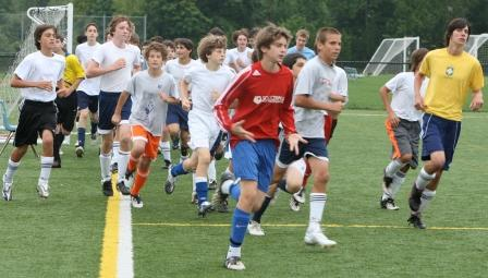 James Hickok, Dylan Hoy and Colin Davis lead the 2009 freshman candidates on their 1st run for Coach Chris O'Dell.