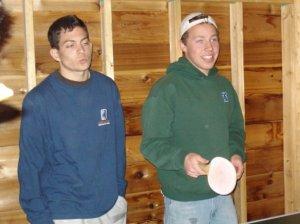 Preston Hirten (right) and his wingman Matt Lamb