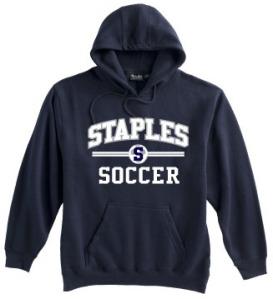 Staples boys soccer hoody