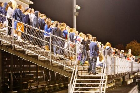 It wasn't a post-season whiteout -- but the Wrecker fans were out in force tonight at Testa Field in Norwalk.
