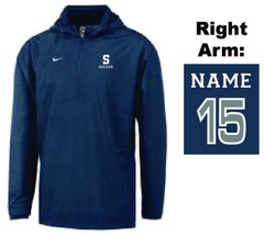 Nike hooded windbreaker -- one of several logowear items available.