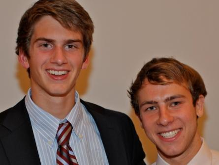 2011 captains James Hickok and Jake Malowitz. (Photo by Carl McNair)