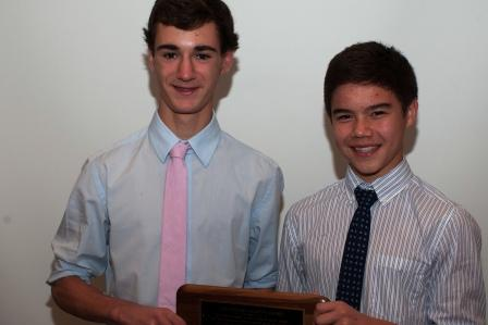 Stephen Martin Award winners James Lewis and Kenji Goto. (Photo by Carl McNair)