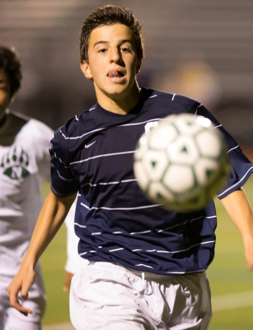 In class or on the field, Diego Alanis is on the ball. (Photo by Carl McNair)