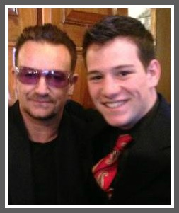 Joe Greenwald (right) and Bono.