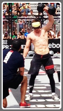 Nicky Hoberman, hard at work at the CrossFit regionals.