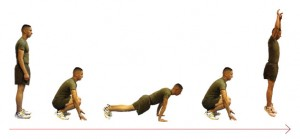 Burpees are key to this workout.
