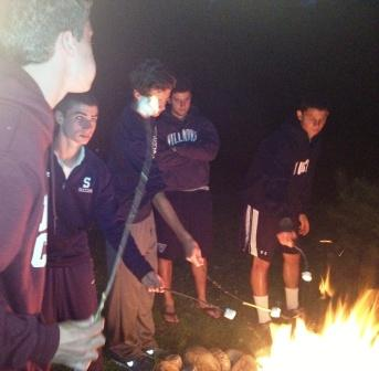 No team-bonding trip is complete without a campfire and s'mores.