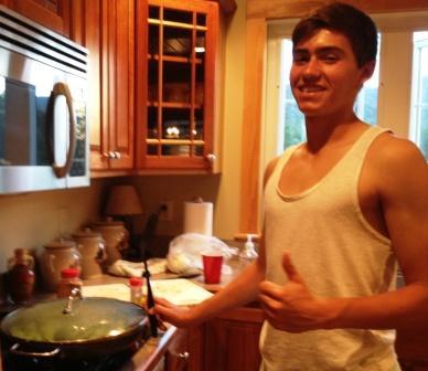 Nate Argosh cooks up his classic broccoli dish.
