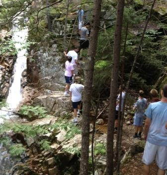 The 2013 returnees make their way up Mt. Willard in the White Mountains.